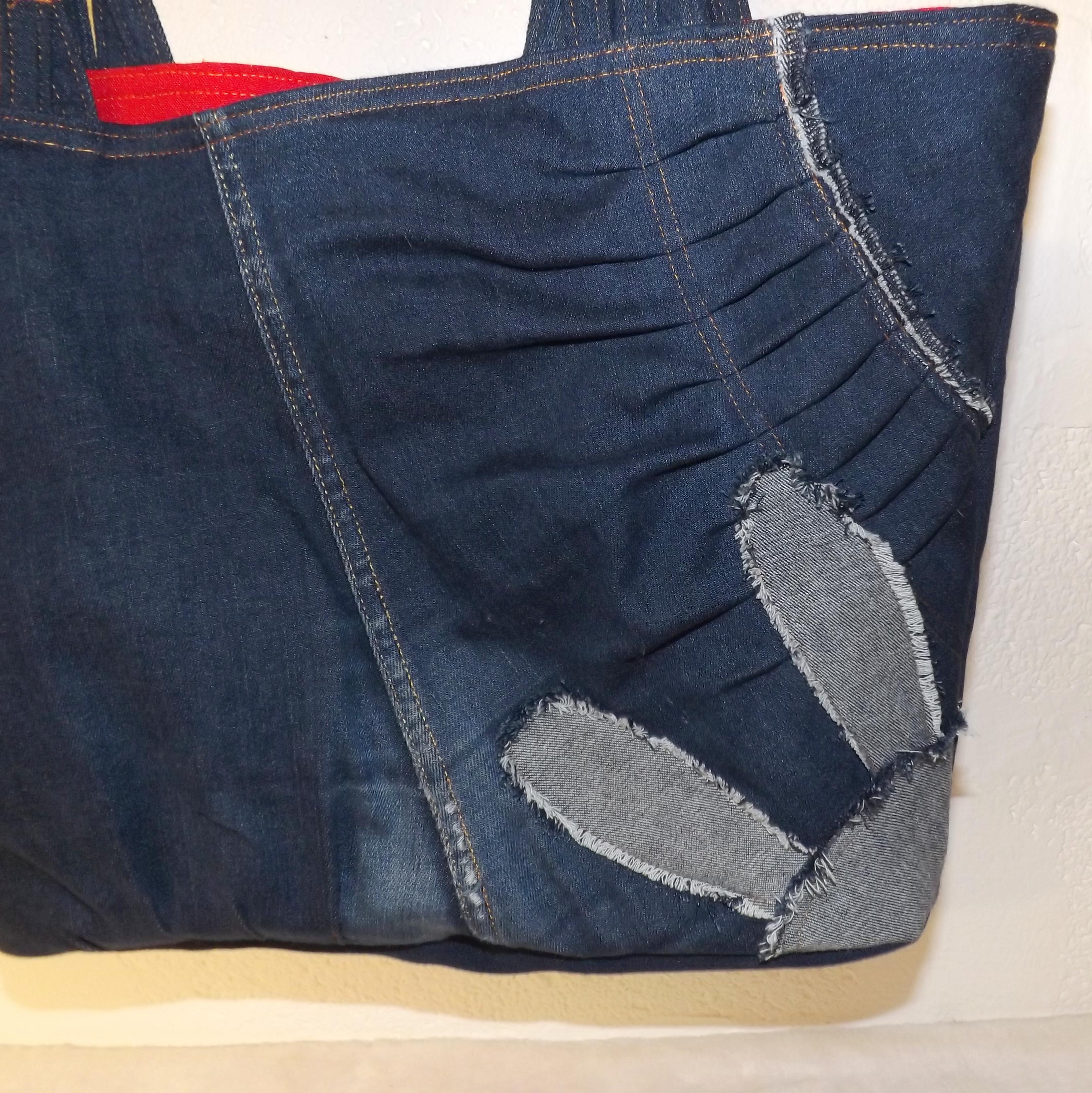 Cabas jeans et lapin dos