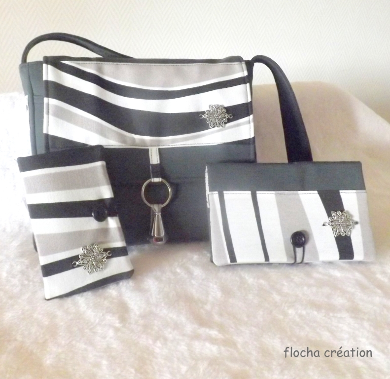 zebag et accessoires à vagues grises