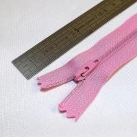 Fermeture à glissière fine 15 cm rose