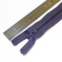 Fermeture à glissière fine 15 cm parme