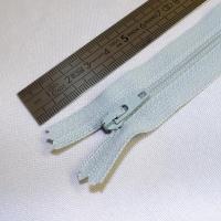 Fermeture à glissière fine 15 cm bleu