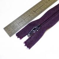 Fermeture à glissière fine 15 cm violet sombre