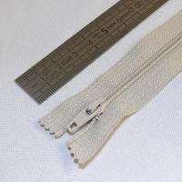 Fermeture à glissière fine 15 cm beige foncé