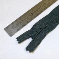 Fermeture à glissière fine 15 cm vert sapin