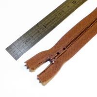 Fermeture à glissière fine 15 cm marron clair