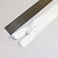 Fermeture à glissière fine 15 cm blanc
