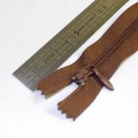 Fermeture à glissière goutte 15 cm marron