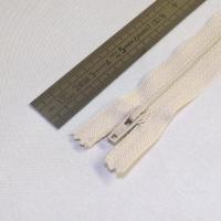 Fermeture à glissière fine 12 cm crème