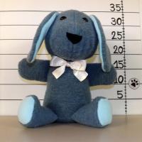 Peluche chien n°1 bleu